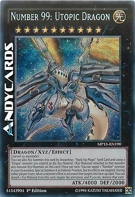 NUMBER 99: UTOPIC DRAGON (Numero 99: Drago Utopico) Segreta • MP15 EN190 Yugioh!