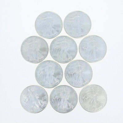 Set of 10 United States American Eagle Coins - .999 Fine Silver 2011