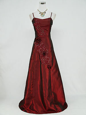 Cherlone Red Ballgown Bridesmaid Wedding Formal Full Length Evening Dress 12-14