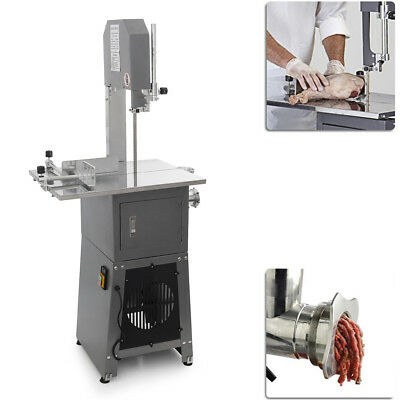 550W 3/4HP Stand Up Butcher Meat Band Saw & Grinder Sausage Stuffer Maker Mincer