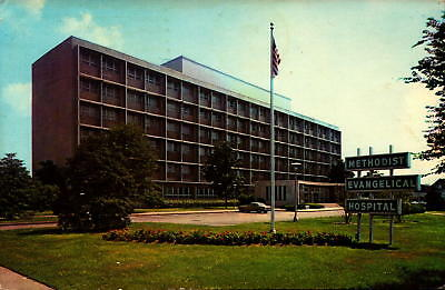 Postcard Methodist Evangelical Hospital Louisville Kentucky