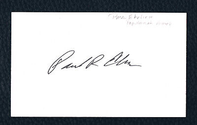 Diverse Autograph Sale: DR. PAUL EHRLICH - AUTHOR 'POPULATION BOMB' - 3x5 card