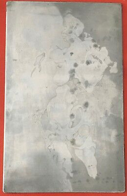 Original Etching Plate Incised , Unsigned  , Vintage , Abstract Etched 12