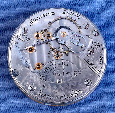 18s Hamilton 17j 934/1 Pocket Watch Movement, #24978 - 1897, OF