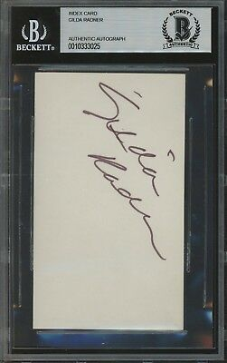 Gilda Radner Signed Index Card AUTO Autograph Beckett BAS AUTHENTIC