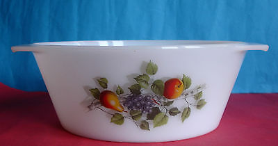 Cocotte ronde,plat a four ARCOPAL France Decor fruits diamètre 23 cm,