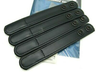 "Bianchi Black 7906 Hidden Snap Accumold Elite 1"" Belt Keeper Pack Of 4 22090"