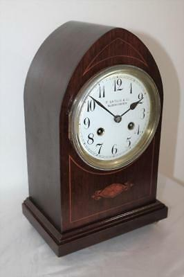 Good Original Antique  Striking Mantle Clock Bloemfontein South Africa On Dial