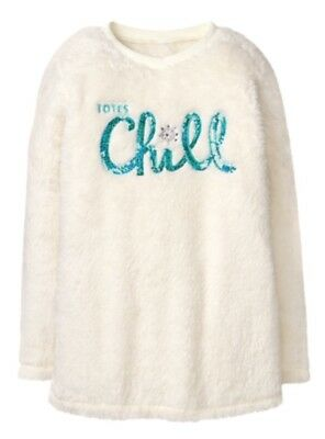 NWT Gymboree Girls Sweater Fuzzy Totes Chill Ice Dancer Snowflake Xs 4