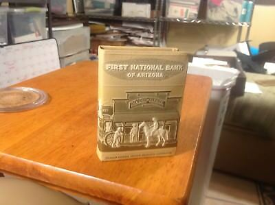 FIrst National Bank Of Arizona Vintage Book Bank Key Lock  Advertising Cowboys