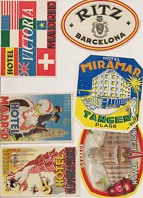 Hotel Europe Advertising Luggage Label Poster stamp Lot Collection ~23 different