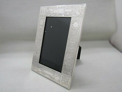 Tiffany & Co. Sterling Silver Childs Birthday Birth Record Picture Frame