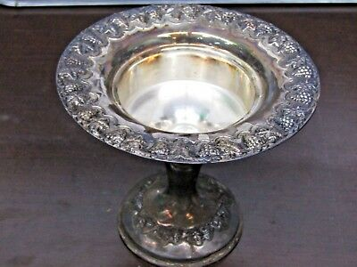 Vintage Hazorfim Sterling Silver 925 Small Pedestal Havdalah Footed Dish Grapes