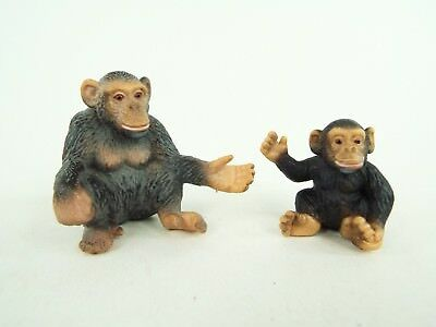 Schleich Monkey Chimpanzee Mother & Baby Figure Lot