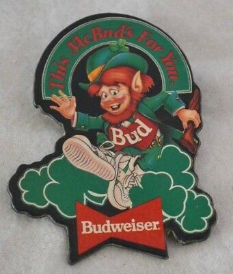 Budweiser Beer Pin Collectible THIS Mc BUD IS FOR YOU Leprechaun