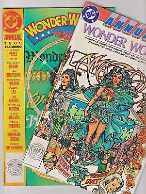 Wonder Woman 1988 Annual No.1  &  No.2  Annual From 1989  Copper-Age Dc