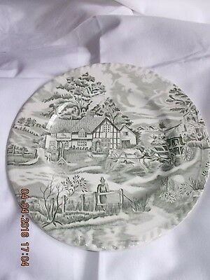 2  Assiettes Plates   English Style   The Copperfield     Luneville