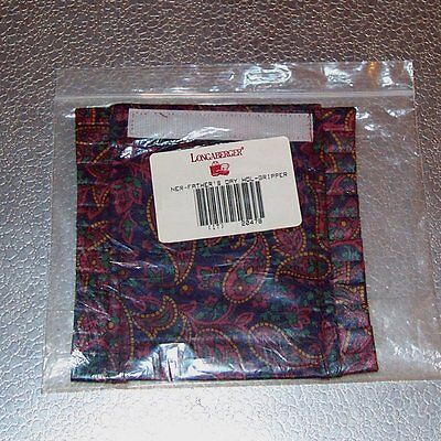 Longaberger Father's Day HANDLE GRIPPER ~ Christmas Paisley