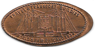 Travel & Transport 1934 elongated cent,A Century of Progress Chicago ILL-CPIE-42