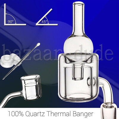 100% Quartz Thermal Banger | 10mm 14mm 18mm Female Male | 90 & 45 | Carb Cap