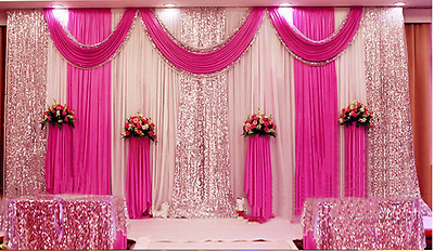 Stage Wedding Party Backdrop Curtain Background Decor Sparkly Sequin