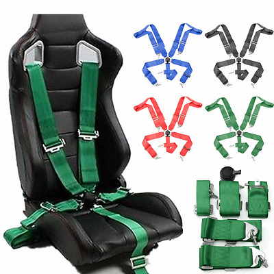 "3"" 5 Point Car Racing Bucket Seat Belt Safety Harness Quick Release Fixing Sport"