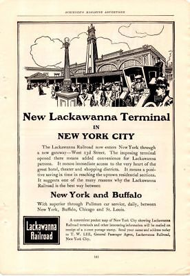 1905 Lackawanna Railroad Ad-New York City Terminal