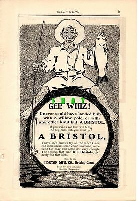 1902 Horton Mfg. Bristol Fishing Rod Ad-Gee Whiz