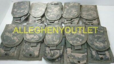 Lot of 10 Double Mag Pouches ACU - Molle II Two Magazine Pouch Good Condition