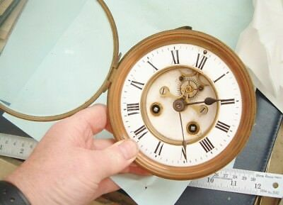 Clock maker old French clock movement with visual escapement By marti spares