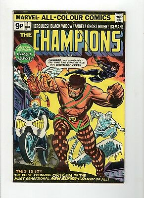 The Champions #1 G/VG 3.0 Off White Pages UK Variant Edition