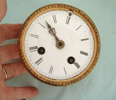 Clock maker old French pillar clock movement  By japy Freres spares or repair