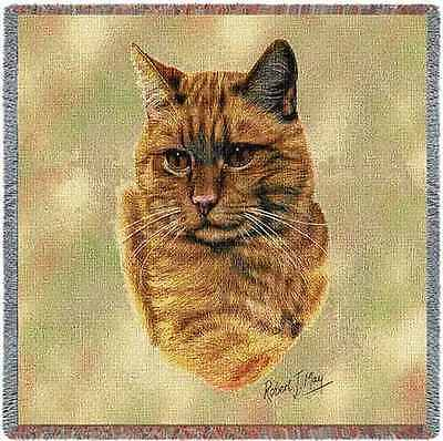 Lap Square Blanket - Red Tabby Cat by Robert May 1952