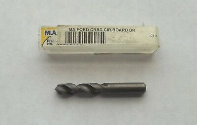 "New M.A. Ford 30019100-300 #11 Solid Carbide Drill 118° Point 1-1/2"" OAL"