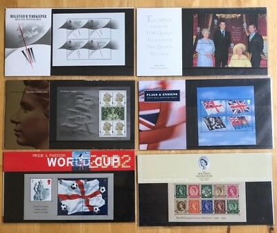 MULTI LISTING GB MINIATURE SHEET PRESENTATION PACKS 1999-2010 PACK No`s M01-441