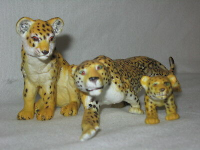 AAA Cheetahs & Cub Model Toys Figurines Replica Forest Zoo Wild African Animals