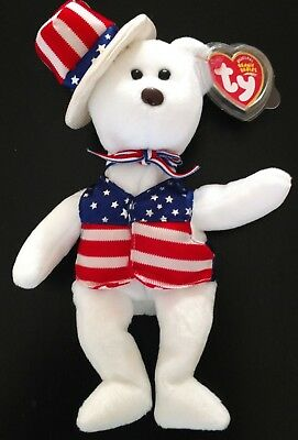 ALL AMERICAN FREEDOM NWT SAM 2003 Beanie Babies Protective TAG Cover CASE STORED