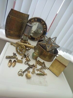 Small Job Lot Vintage Brass Items/ornaments Cannon 4 In 1 Screwdriver Star Light