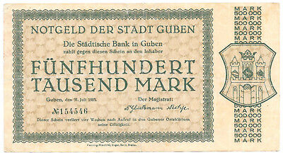Guben - 500.000 Mark - 31.7.1923