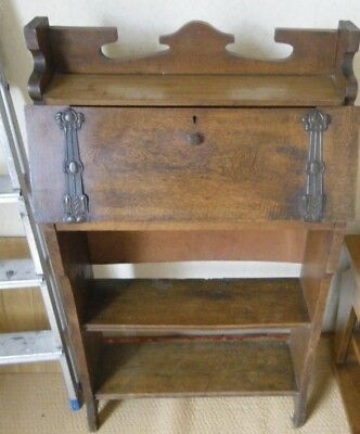 Oak  Art Nouveau Bookcase/ Bureau / In Need Of Tlc - Project