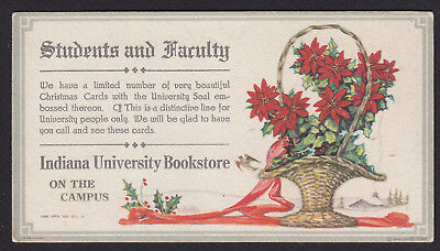 Advertising-Ink Blotter-Indiana University Bookstore-Christmas-Poinsettias