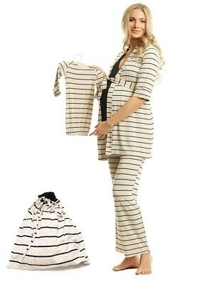 Everly Grey Roxanne During &After Maternity Nursing Sleepwear 5-Piece Pajama Set