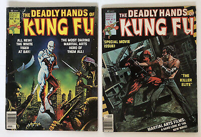 THE DEADLY HANDS OF KUNG FU 1,4,14,15,16,21,22,23,25,31,33 Magazine Lot of 11