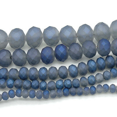 2018 new Rondelle Faceted Crystal Glass Loose Spacer Scrub Beads 3/4/6/8/10mm #2