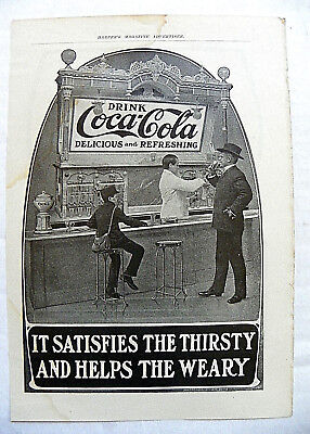 "1905 June Harper's ""it Satisfies The Thirsty"" Man & Delivery Boy At Fountain"