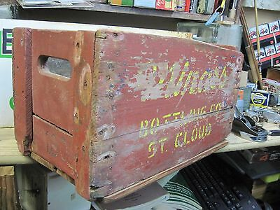 wooden SODA POP CASE CARRIER MINARS BOTTLING  wood CRATE PRIMITIVE BOX VINTAGE
