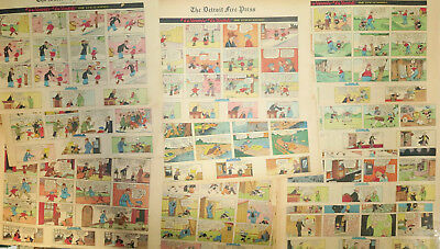 48 WINNIE WINKLE Sunday comics from 1937 featuring LOUIE - EXCELLENT CONDITION