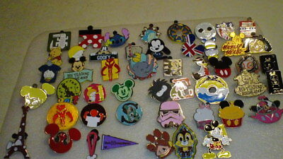 Disney Pins 50 Different Mixed Lot Fastest Shipper Usa Seller