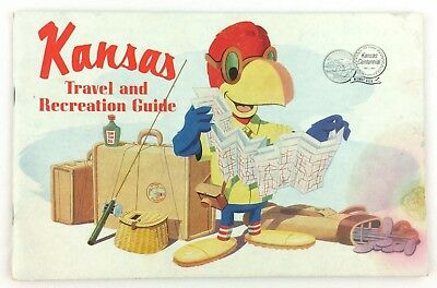 Kansas Centennial 1961 Travel & Recreation Guide Booklet 64 Pages