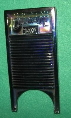 Vintage Colgate Soap Iridescent Glass Washboard Paperweight